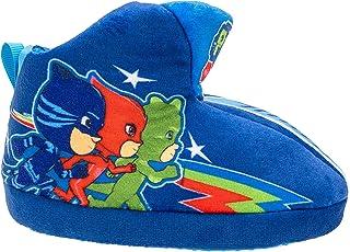 PJ Masks Boy's Slipper Bootie, Gekko Catboy Owlette, Stipple Outsole,Toddler Size 5/6 to Kids size 11/12