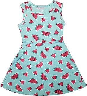 Watermelon Teal Summer Dress for Girls