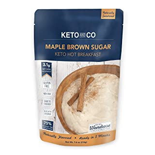 Keto Hot Breakfast by Keto and Co | Maple Brown Sugar Flavor | Just 3.1 Net Carbs Per Serving | Gluten free, Low Carb, No Added Sugar, Naturally Sweetened | (8 Servings - Maple Brown Sugar)