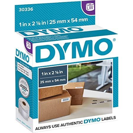DYMO LW Multi-Purpose Labels for LabelWriter Label Printers, White, 1'' x 2-1/8'', 1 roll of 500 (30336)