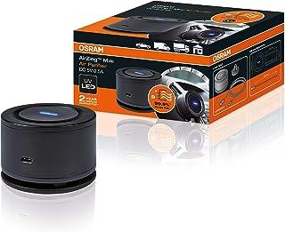 Osram LEDAS101 NK AirZing Air Mini Air Purifier; Auto Luftreiniger mit USB Port, UVA Luftfilter, zerstört Viren und Bakterien im Fahrzeug bis zu 99%, Hightech TiO2 Filter