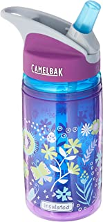 CamelBak 00220 Eddy Kids Insulated Purple Flowers 0.4 Litre (Multicolour)