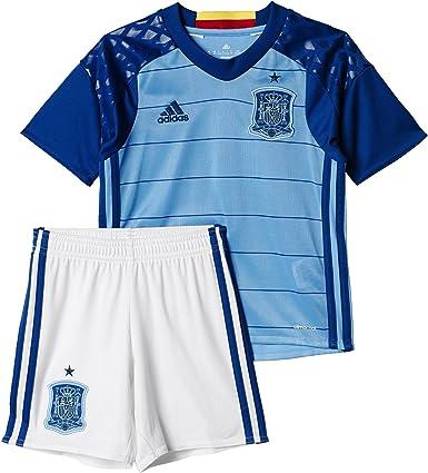 adidas UEFA Euro 2016 Spain Home Goalkeeper Conjunto Camiseta y pantalón Corto Selección Española de Futbol 1ª equipación 2016-2017-KI, Niños