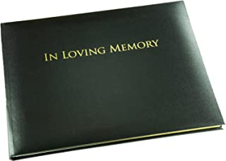 Esposti In Loving Memory Book - Black - Funeral Guest Book - Memorial Book - Presentation Boxed - (LARGE SIZE - Width 10.5 inch - Height 7.6 inch - Depth 0.6 inch)