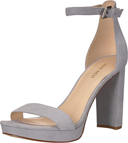 Nine West Wohommes Dempsey Heeled Sandal, Light bleu Suede, 9.5 9.5 M US  prix plancher