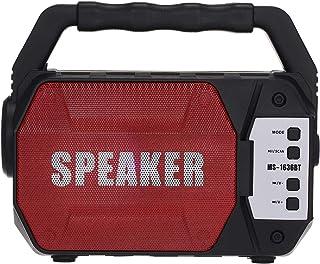 Meterk Portable Outdoor Speaker Colorful LED Light & Flashlight Super Bass Wireless Bluetooth Speakers FM Radio TF Card U ...
