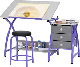 Comet Center with Stool in Purple/Spatter Gray