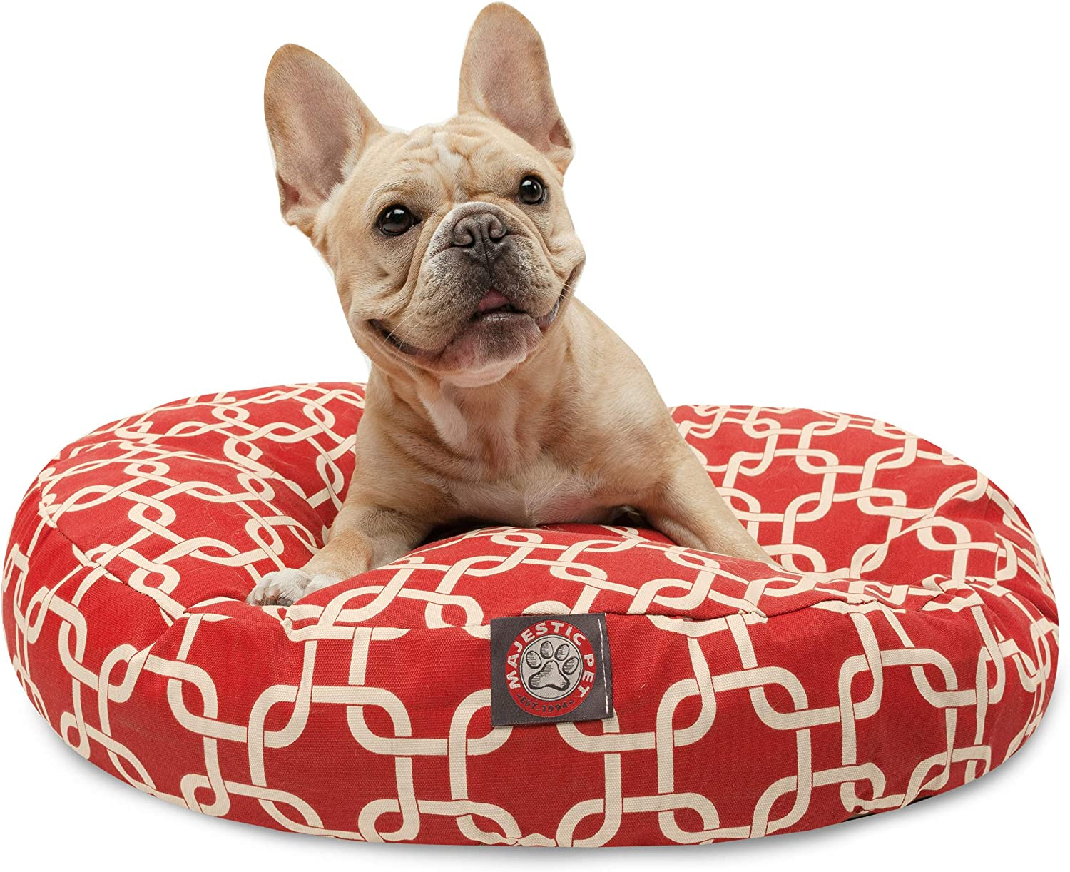 Majestic Pet Small Round Pet Bed, Red Links