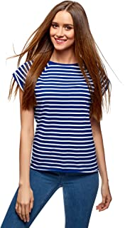 9ef8ab8e35 oodji Ultra Mujer Camiseta Básica de Algodón