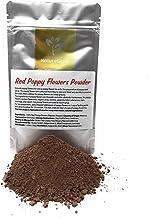 Red Poppy Flowers Powder - Ground Poppy Flowers For Use As Poppy Flower Tea Or Preparation Of Poppy Seed Syrup - Ingredien...
