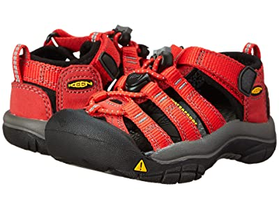 Keen Kids Newport H2 (Toddler/Little Kid) (Ribbon Red/Gargoyle) Kids Shoes