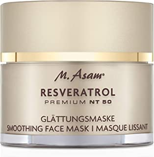 M. Asam, Resveratrol Premium NT50 Smoothing Face Mask, Deep Beauty Treatment Premium Mask with Hight Concentration of Resv...