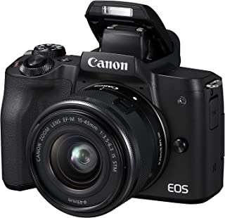 Canon EOS M50 - Kit de cámara EVIL de 24.1 MP y vídeo 4K con objetivo EF-M 15-45mm IS MM (pantalla táctil de 3 estabilizador óptico Wifi) color negro
