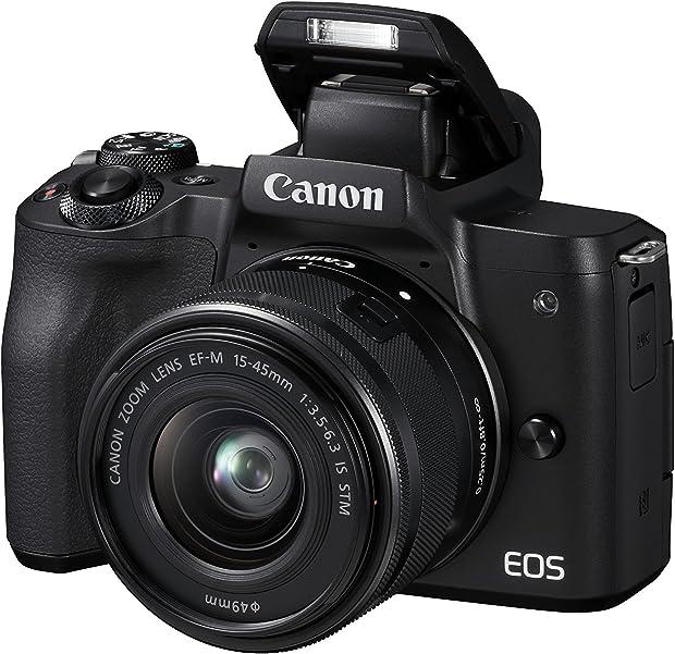 Canon italia eos m50 + ef-m fotocamera mirrorless, nero, lunghezza focale 15-45 mm 2680C012