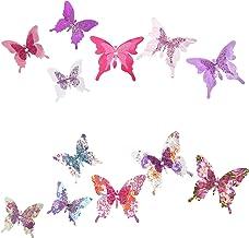 Roser Life Craft Butterflies⎮Decorative Artificial Butterfly Clips⎮Silk Fabric Butterfly Decorations⎮...