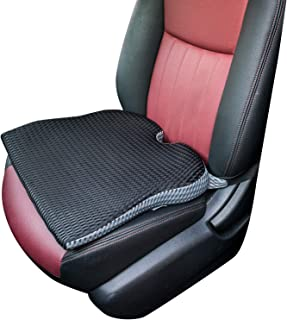 Dreamer Car Wedge Seat Cushion with Strap -Memory Foam Coccyx Wedge Pad -Orthopedic Support and Pain Relief for Lower Back, Tailbone, Coccyx and Hips (Black)