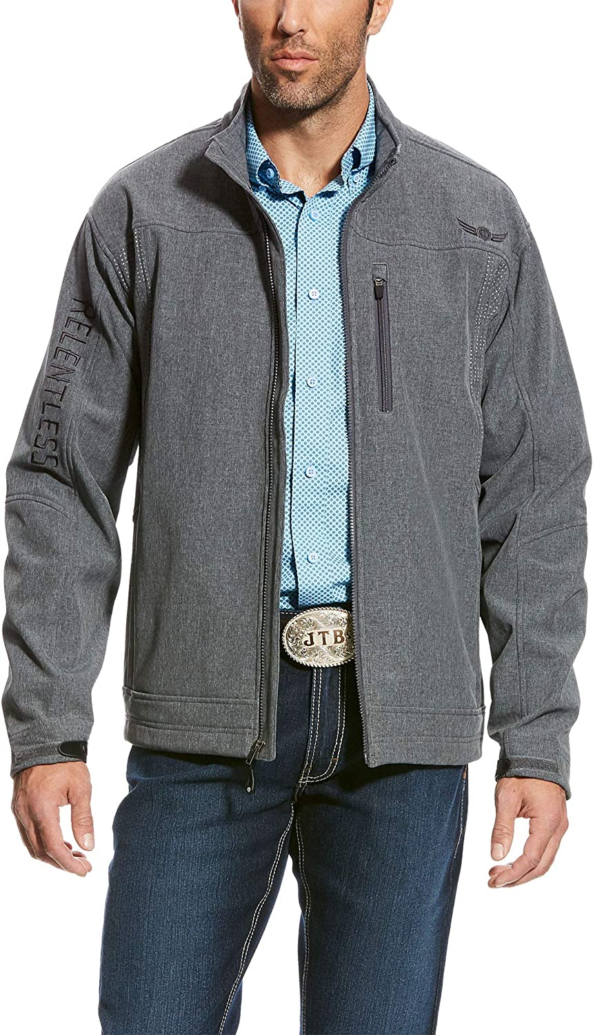 ARIAT Men's Latest item Relentless Willpower Softshell Jacket Size Charcoal Max 71% OFF