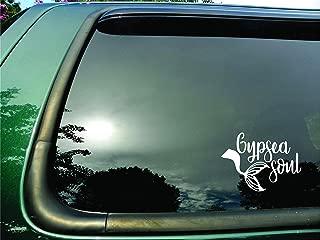 Gypsea Soul Mermaid Tail White- Die Cut Vinyl Window Decal/sticker for Car/Truck/Laptop 5.5