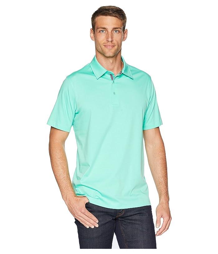 BUGATCHI Mercerized Cotton Polo (Paradise) Men