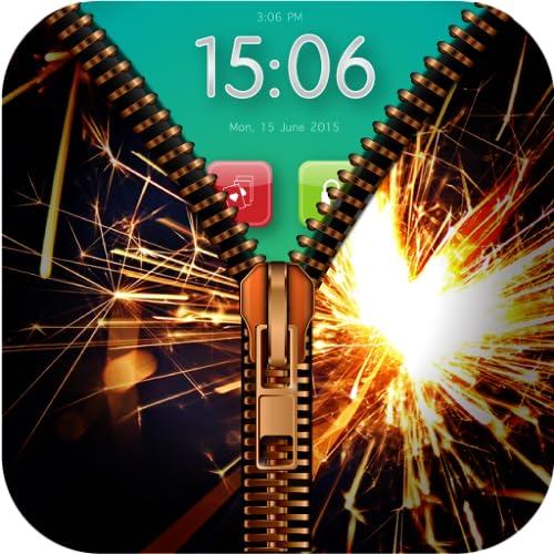 Fireworks Zipper Lock : Wallpaper Zip Lock Screen