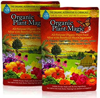 Plant Magic Plant Food 100% Organic Fertilizer - Easy to Use All Purpose for Indoor Houseplants, Outdoor Flowers, Tomatoes and All Vegetables and Trees (Also Known as Instant Compost Tea)1 lb