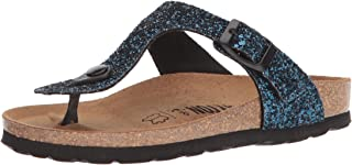 Bayton Women's MERCURE Sandal, Blue Glitter, 39 Medium EU (8 US)