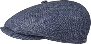 Stetson Casquette Bedford Check Coton et Lin Homme Doublure Printemps-ete Doublure Made in The EU en Gavroche avec Visiere