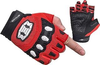 Seibertron Dirtclaw Adult BMX MX ATV MTB Road Racing Mountain Bike Bicycle Cycling Off-Road/Dirt Bike Gel Padded Anti - Slip Palm Fingerless Gloves Motorcycle Motocross Sports Gloves