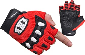 Seibertron Dirtclaw Unisex BMX MX ATV MTB Road Racing Mountain Bike Bicycle Cycling Off-Road/Dirt Bike Gel Padded Anti - Slip Palm Fingerless Gloves Motorcycle Motocross Sports Gloves