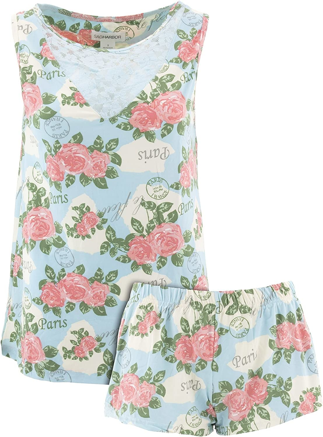 Sag Harbor Women's Paris Floral Short Pajamas