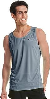 TLRUN Ultra Lightweight Running Singlet for Men Beach Tank Top Dry Fit Workout Sleeveless Shirts