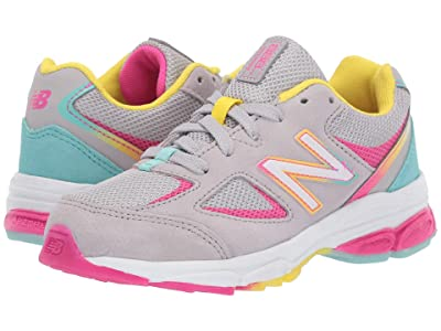 New Balance Kids PK888v2 (Little Kid) (Grey/Rainbow) Girls Shoes