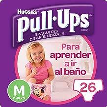 Huggies Pull-Ups - Braguitas de aprendizaje para niñas, talla M (11-18 kg), 26 braguitas, Pack de 2