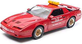 GreenLight 1987 Talladega 500 Pace Car Pontiac Trans Am GTA Diecast Vehicle, Flame Red, Scale 1:18