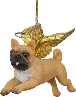 Christmas Tree Ornaments - Honor The Pooch Pug Holiday Angel Dog Ornaments