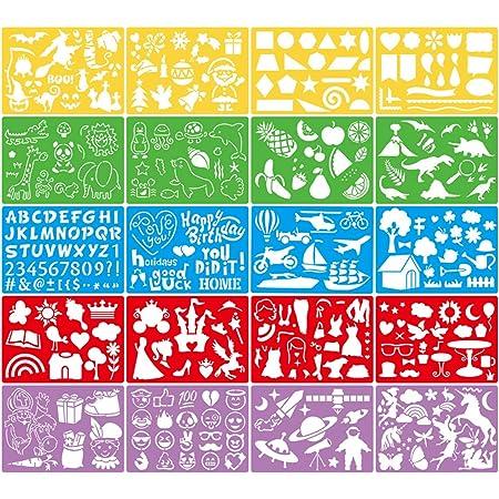 Plantillas de Animales 24 Piezas DIY Plantilla de Pintura Se Puede Reutilizar Pet Serie de Encaje Tem/ático Plantilla de Pintura para El Cuaderno de Los Ni/ños Conjunto de Plantillas de Pintura