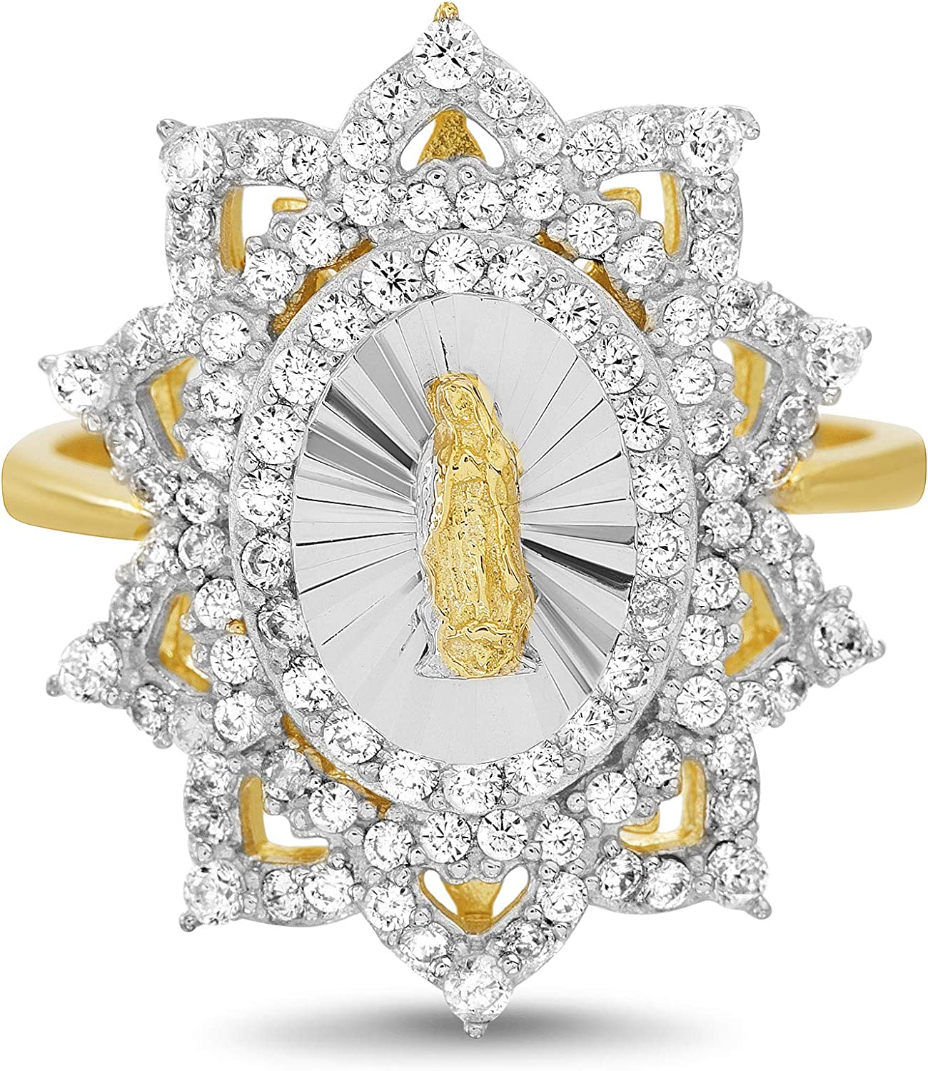 MY BIBLE Courier shipping free Yellow Gold and Rhodium SEAL limited product Plated Sterling Zi Cubic Silver