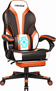 IntimaTe WM Heart Chaise Gaming, Fauteuil Gamer Ergonomique, Fauteuil Gaming avec Dossier Haut, Fauteuil de Bureau avec As...