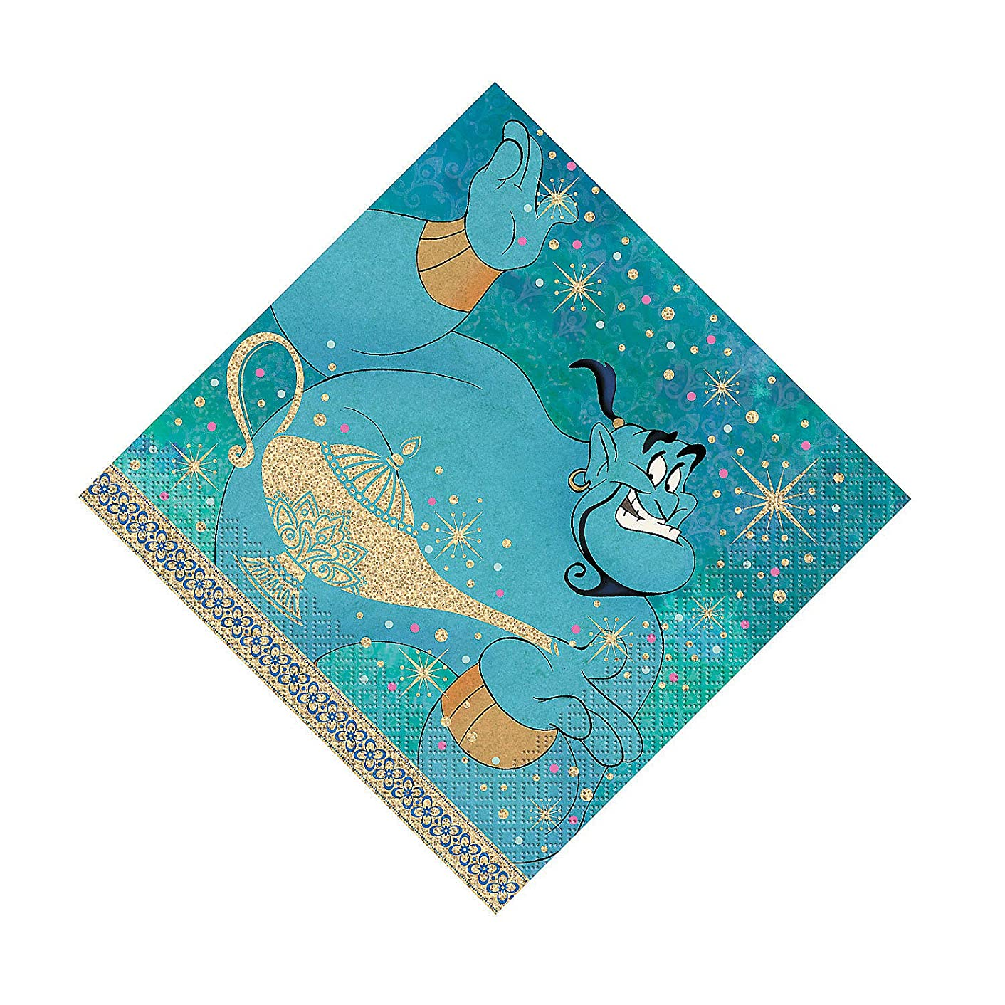 Fun Express - Aladdin Lunch Napkins for Birthday - Party Supplies - Licensed Tableware - Licensed Napkins - Birthday - 16 Pieces