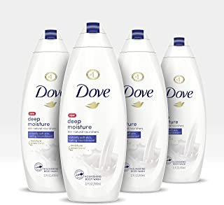 Dove Body Wash For Dry Skin Deep Moisture Gentle Bodywash, 22 Fl Oz, Pack of 4