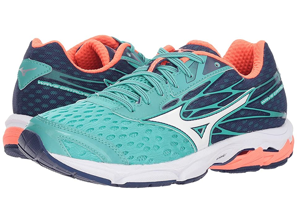Mizuno Wave Catalyst 2 (Turquoise/Fiery Coral) Girls Shoes