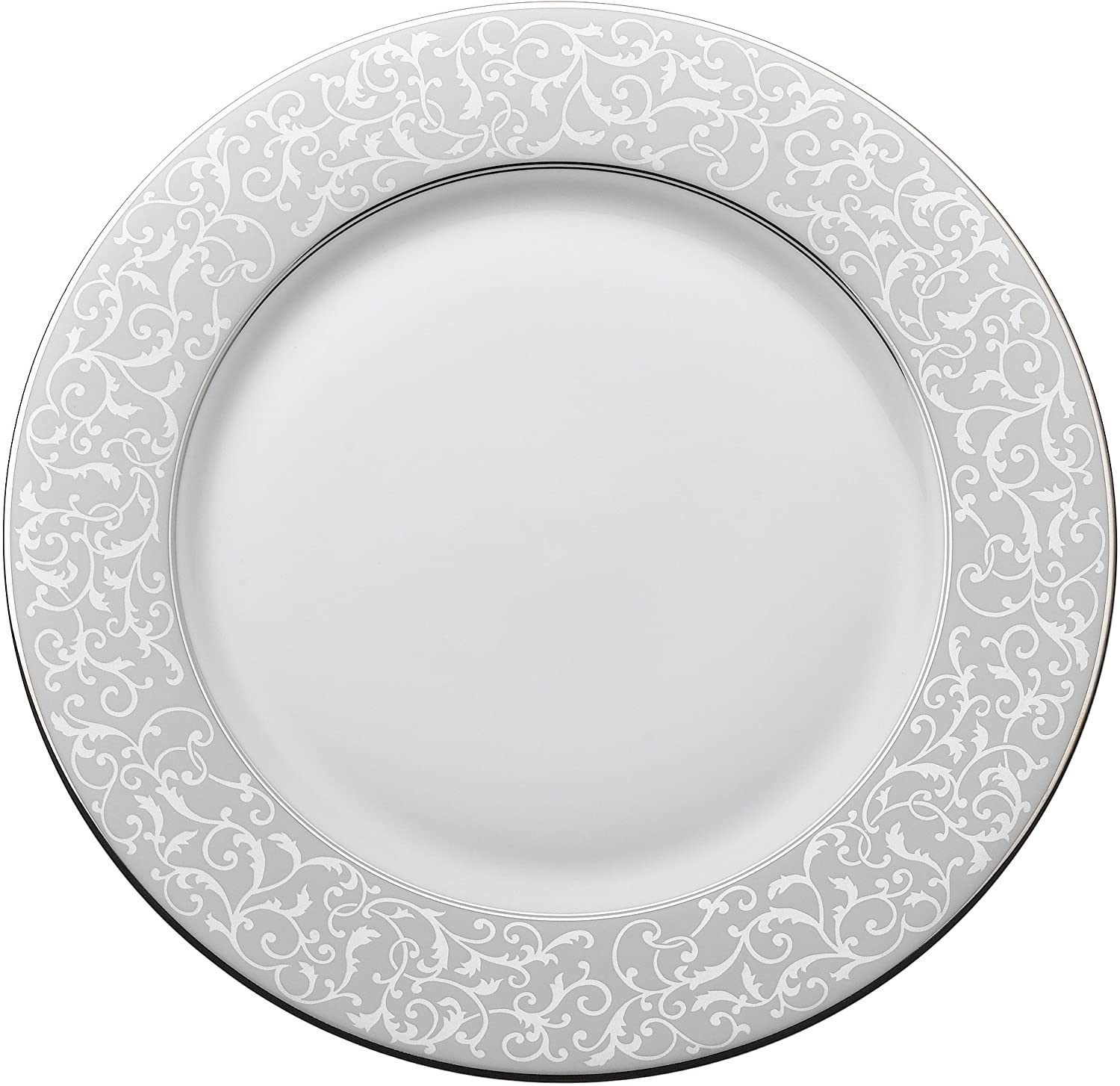 Mikasa Parchment Dinner Plate outlet - 10.75-Inch L3438-201 White High order
