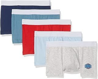 Set of 5 Boys Plain Silk Screened Boxers Style 26411 Sizes 2-12