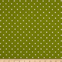 Robert Kaufman 0465650 Kaufman Sevenberry Canvas Natural Dots Small Lime Fabric by The Yard,