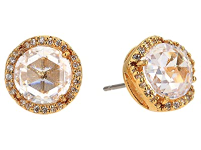 Kate Spade New York That Sparkle Pave Round Large Studs Earrings (Clear/Gold) Earring