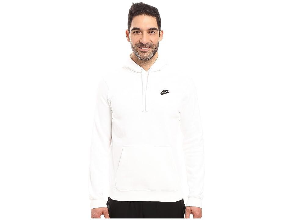 Nike Club Fleece Pullover Hoodie (White/White/Black) Men