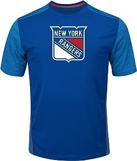 Profile Big & Tall NHL New York Rangers Children Short Sleeve Pieced Poly Tee, Medium, Royal/Blue/Red