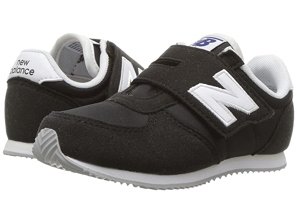New Balance Kids KV220v1 (Infant/Toddler) (Black/White) Boys Shoes