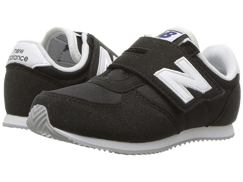 New Balance Kids KV220v1 (Infant/Toddler) (Black/White) Boys Shoes