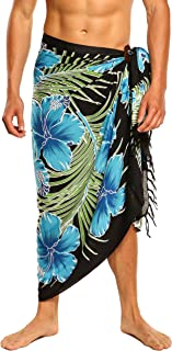 1 World Sarongs Sarong for Men, Hawaiian Cover-Up Sarong
